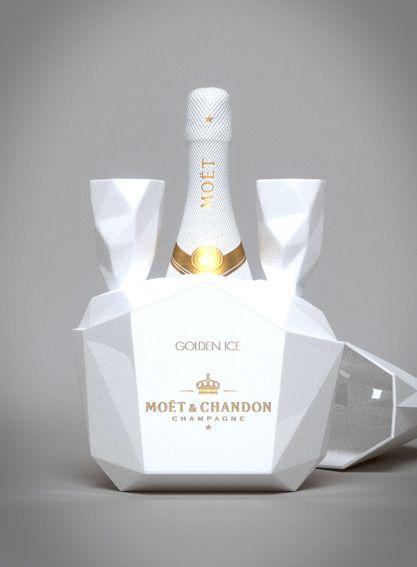 Moët & Chandon - Golden Ice - by Vincent Rigommier, via Behance PD
