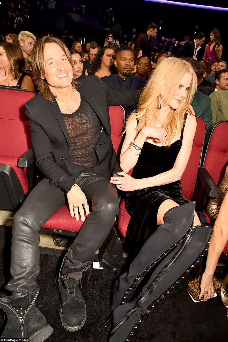 Sheer daring: Keith Urban and wife Nicole Kidman seemed to be having a good time in the cr...
