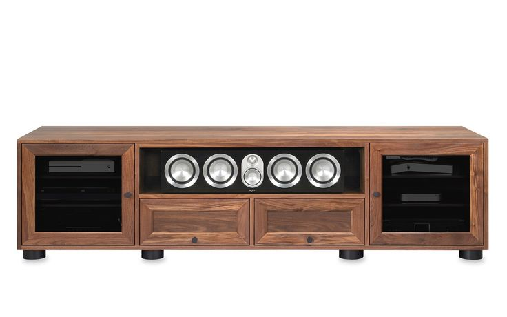 Majestic EX 82-inch American Solid Wood Media Console / TV Stand / AV Cabinet (Center Speaker Shelf + Drawers)    $3100