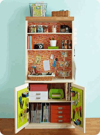 Craft cabinet.