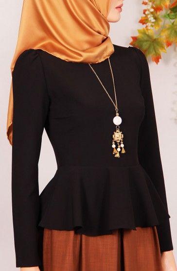Prenses Peplum Bluz - Siyah Abiye,Gömlek-Bluz Prenses Peplum Bluz - Siyah ; özel krep pamuklu, esneme payı olan kumaş. Söz,nişan,düğün,sünnet
