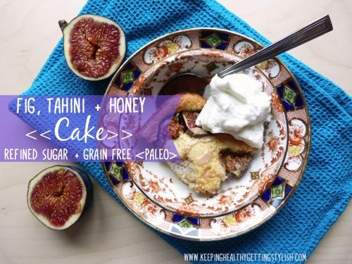 Recipe: Fig, Tahini   Honey Cake (refined sugar   grain free, paleo) only 115 calories a slice!