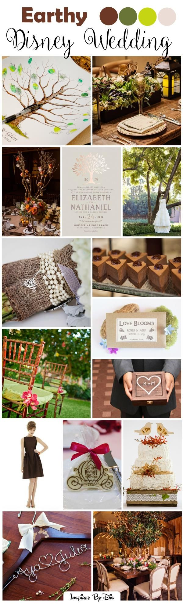 Natural Earthy Disney Wedding Inspiration