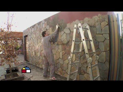 ¿Cómo revestir con piedra un muro exterior? - Sodimac Homecenter Argentina - YouTube