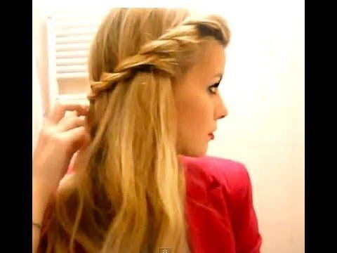 Acconciatura capelli sciolti elegante e romantica (super facile e velocissima) - YouTube