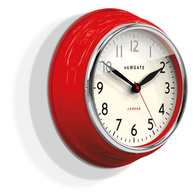 This Bright Red Newgate Wall Clock Is From The Cookhouse Range And Perfect For Your