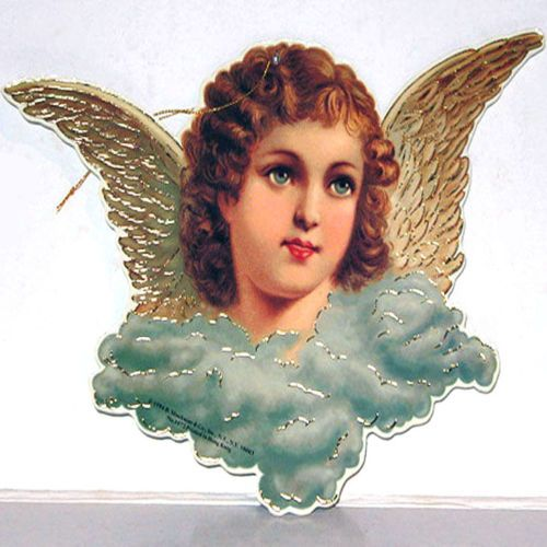 Ornamento-de-Angel-con-Alas-Victoriano-Colgante-Decoracion-Perfecto-Estado-shackman