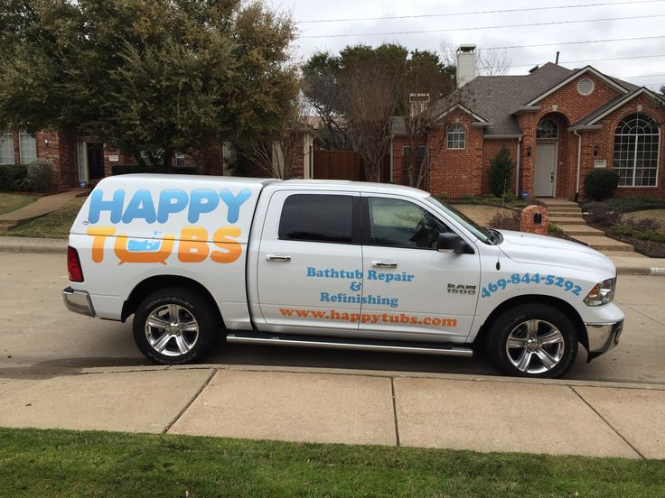 This is the Happy Tubs truck that comes to the rescue for bathtub repair  and bathtub refinishing in Dallas   Fort Worth and all of DFW. 17 Best images about Bathtub Repair and Bathtub Refinishing on