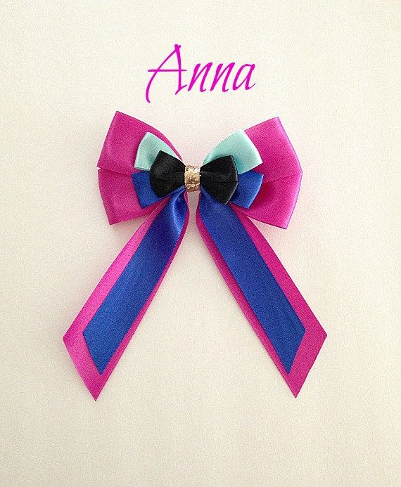 Disney inspired Frozen Anna princess hair bow