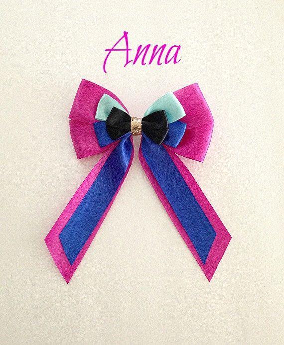 Disney inspired Frozen Anna princess hair bow