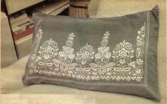 traditional hungarian sarkozi embroidery pillow pattern