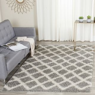 Shop for Safavieh Dallas Shag Grey/ Ivory Rug (8' 6 x 12'). Get free shipping at Overstock.com - Your Online Home Decor Outlet Store! Get 5% in rewards with Club O!