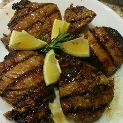 Grilled Yellowfin Tuna with Marinade. Tried it for the first time this weekend and it was a great Marinade.