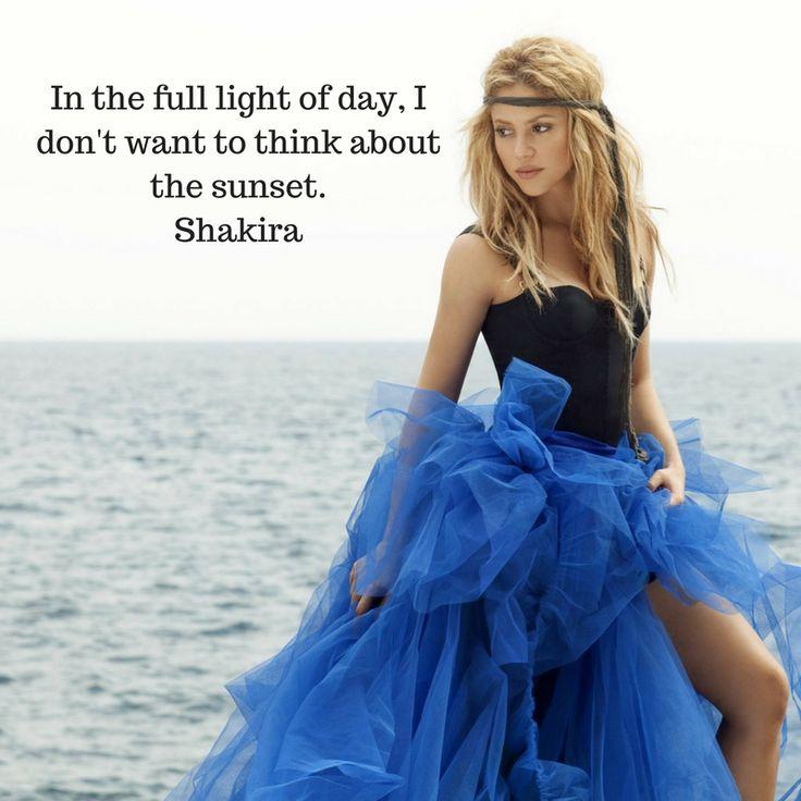 Happy Birthday to the beautiful Shakira, who is 40 today. #shakira #happybirthday #sunset #thoughts #mindfulness