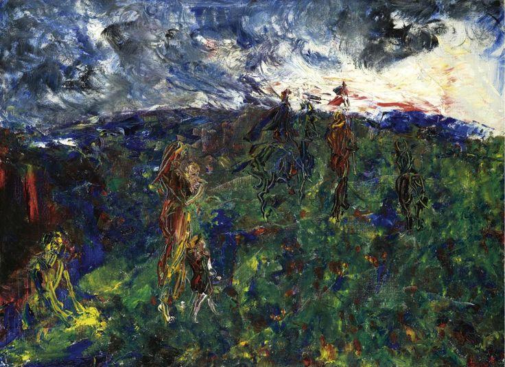 thunderstruck9:  Jack Butler Yeats (Irish, 1871–1957), Meeting the Dawn, 1948. Oil on canvas, 20 x 27 in.