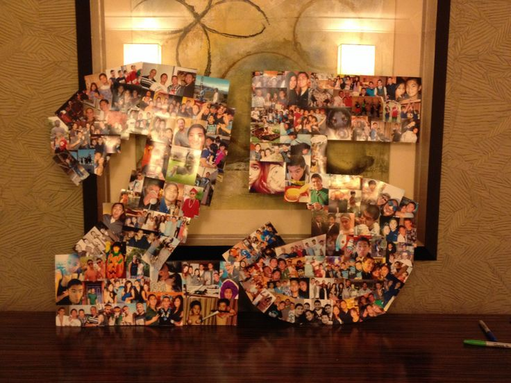 A 25 picture collage for the boyfriends 25th birthday for 25th birthday decoration