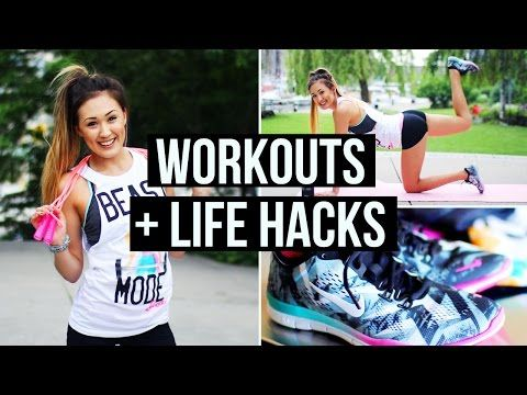 Motivation & Workout Life Hacks + Summer Exercise Routine! | LaurDIY - YouTube