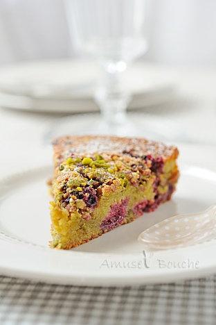 Gâteau Moelleux pistache Framboise by Amuse Bouche (1 super blog cuisine !)