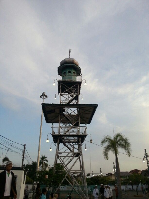 "Tower Masjid Agung Demak,   historic mosque, which was built by ""Walisongo"" in the spread of Islamic religion"