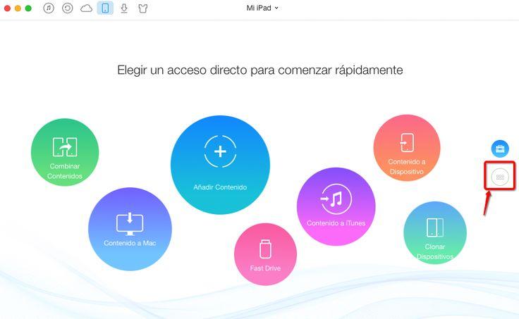 Cómo pasar archivos de iPad a Pc con AnyTrans – Paso 1