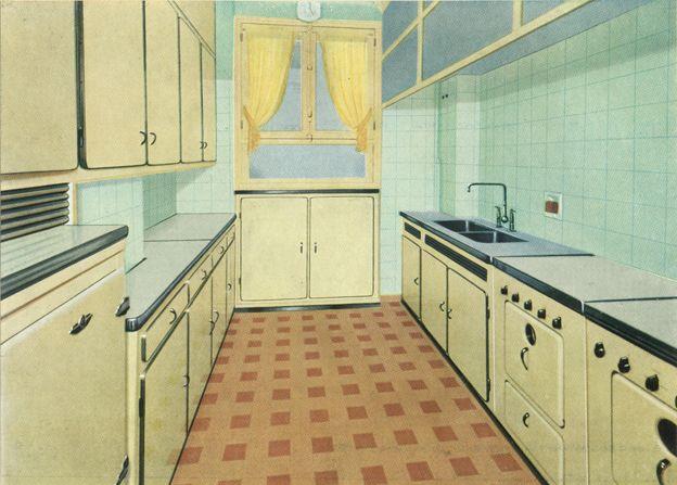 Les 33 meilleures images propos de cuisine formica sur for Cuisine couloir ouverte