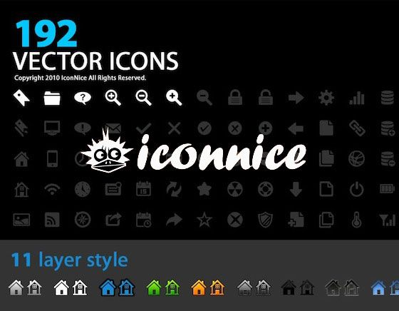 A Set Of 192 Icons For All Design Projects Vector Icons for Designers l #free #layerstyles #PSD