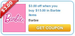 **HOT COUPON ALERT**  HOT 2 New Barbie Coupons~Plus More Kids Coupons!