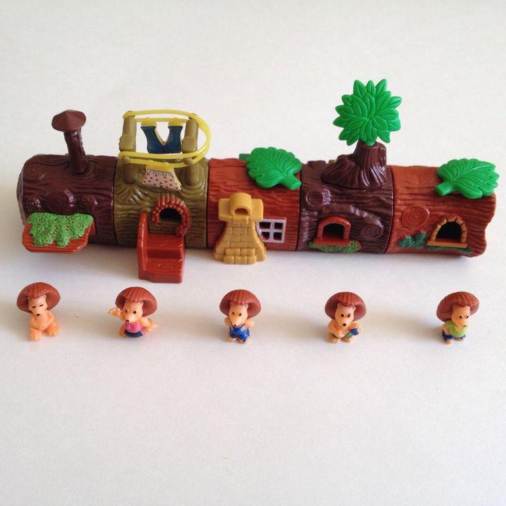 Lot Kinder Surprise Toys Micro Hedgehog Village Click It Together Log Houses | eBay