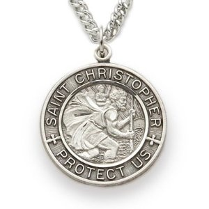 I want a Saint Christopher medal. Patron Saint of Travellers.