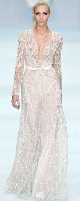 Anja Rubik in Elie Saab Haute Couture Spring/Summer 2012