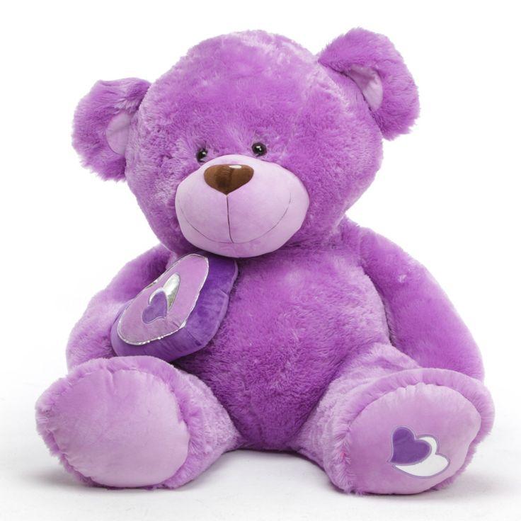 purple valentines | ... Big Love Giant Teddy Bear - 56 in Purple Valentines Teddy Bear Gift