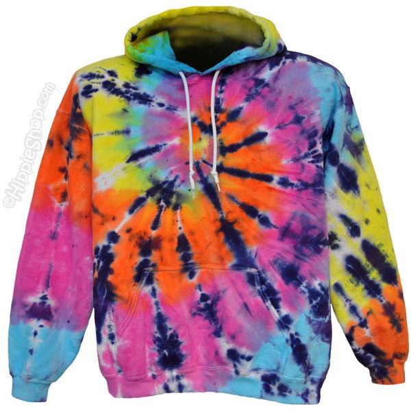Tie Dye Pastel Shooter Hoodie on Sale for $47.95 at The Hippie Shop ($48) ❤ liked on Polyvore