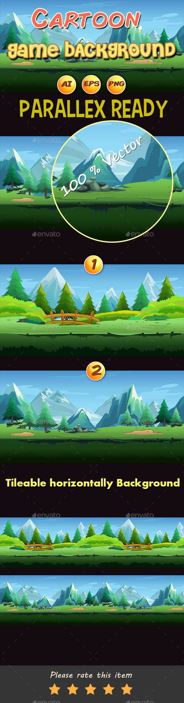 Cartoon Game Backgrounds - Backgrounds Game Assets
