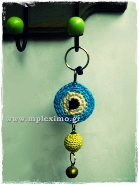 crochet evil eye mobile