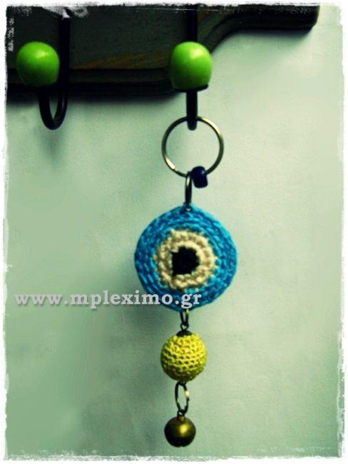 crochet evil eye mobile