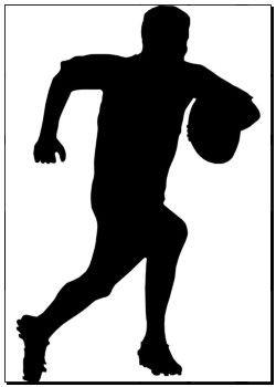 Reprodukce výtvarného umění sportu Silhouette - Rugby fotbalový Runner k6615003 - na plátně, plakáty, nástěnná tisk, plakát umělecká díla, nástěnné dekor - k6615003.eps