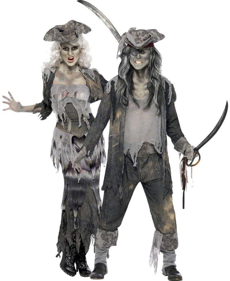 Halloweenkostuum voor koppels: Spookpiraten