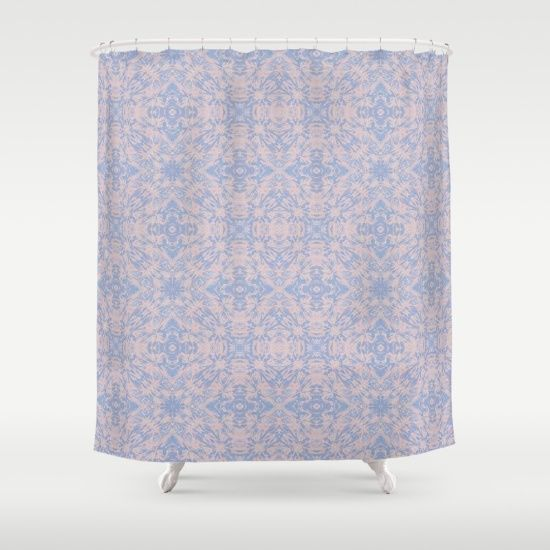 Light Pink And Blue Tapestry 4635 Shower Curtain