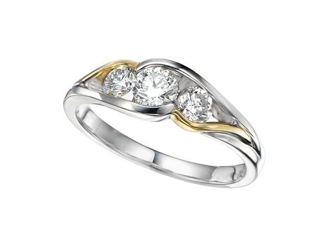 Glacier Fire 14kt Two Tone Gold w/ .70ctw Canadian Diamond Ring #canadian #diamond #glacierfire #ring #jewellery $1999