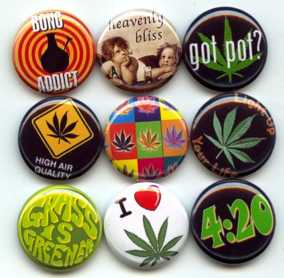 Marijuana Pot 420 cannabis 9 Pinback 1 Buttons Badges by Yesware11