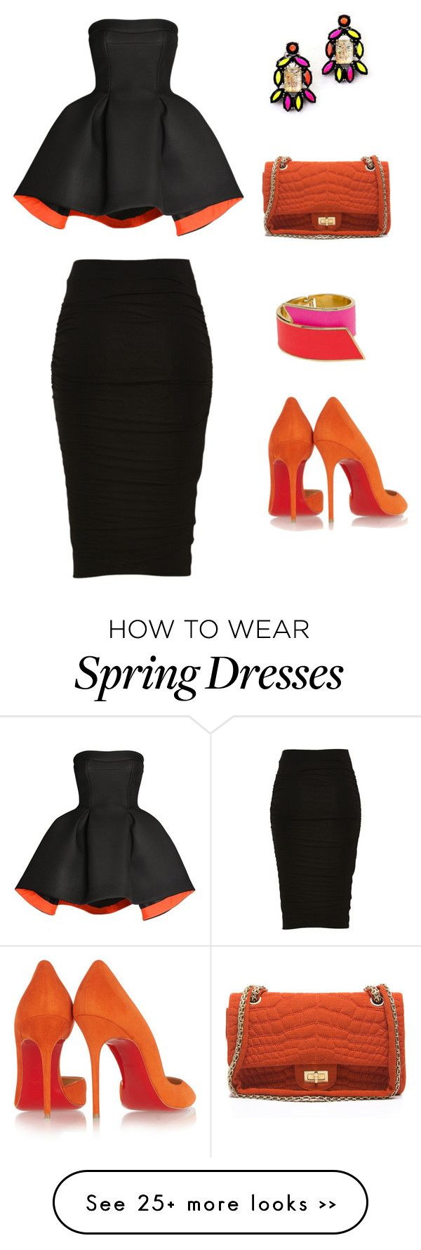 """Untitled #191"" by onellaonella on Polyvore featuring Christian Louboutin, CC SKYE, Parlor and Chanel"
