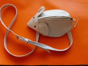 Шьем забавную сумочку-мышь из кожи для юной модницы | Ярмарка Мастеров - ручная работа, handmade