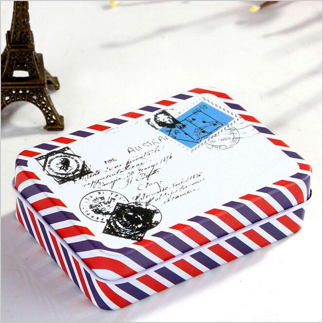 Mini Metal Tin Box Pojemnik Cacko Boże Narodzenie Prezent Pudełka Cukierków Koperta Iron Box herbaty karty Schowek organizator case LW0344