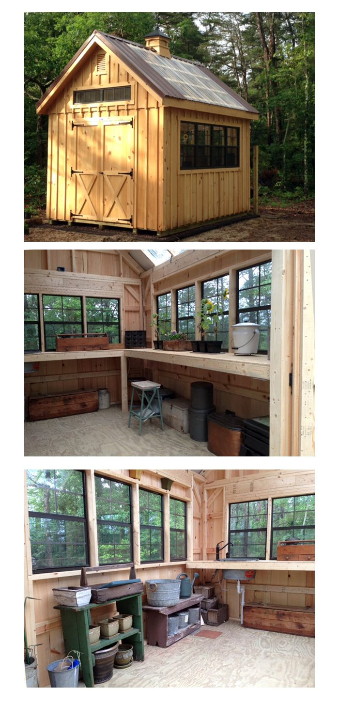 rustic and well organized perfectly suited for the job at hand what avid gardener - Garden Sheds Galore