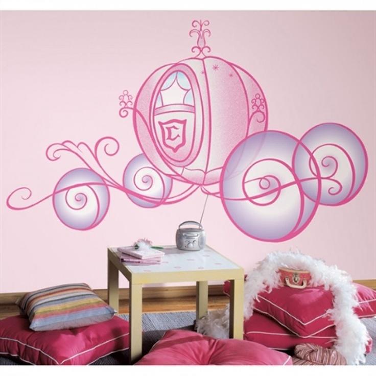 Stickers g ant carrosse de cendrillon - Chambre princesse carrosse ...
