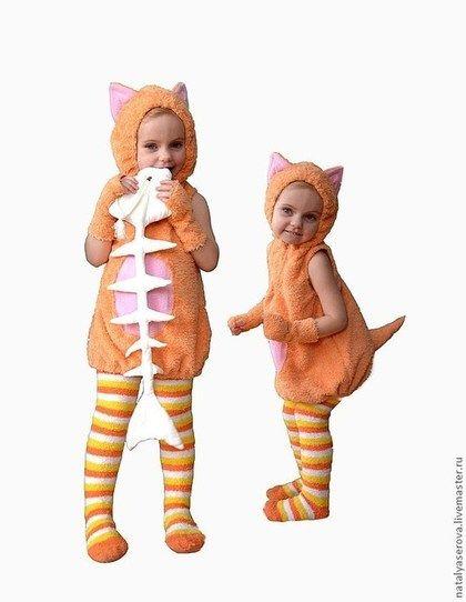 """Детские карнавальные костюмы ручной работы. Ярмарка Мастеров - ручная работа Костюм """"Рыжий котик"""". Handmade."""