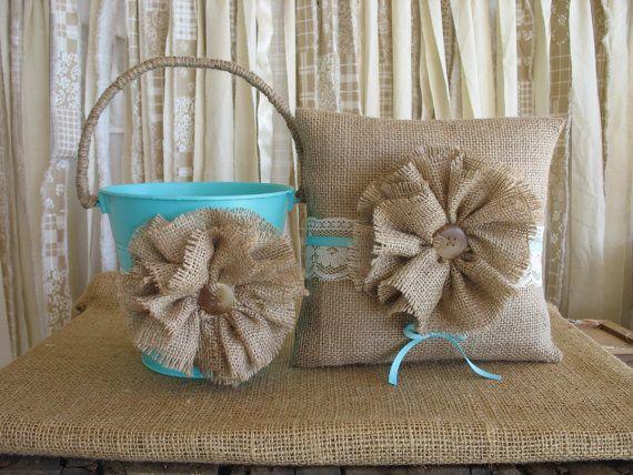 Flower+Girl+Basket+Ring+Bearer+Pillow+by+TheShabbyChicWedding,+$60.00