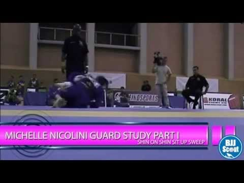 ▶ BJJ Scout: Michelle Nicolini Guard Study Part 1: Shin-on-Shin Sit up Sweep - YouTube