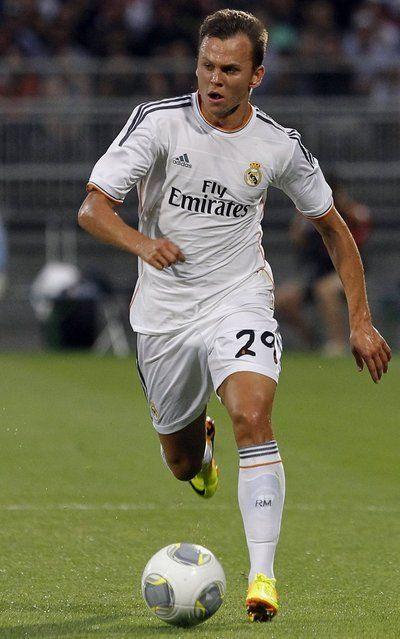 Denis Cheryshev del Real Madrid durante el partido frente al Lyon
