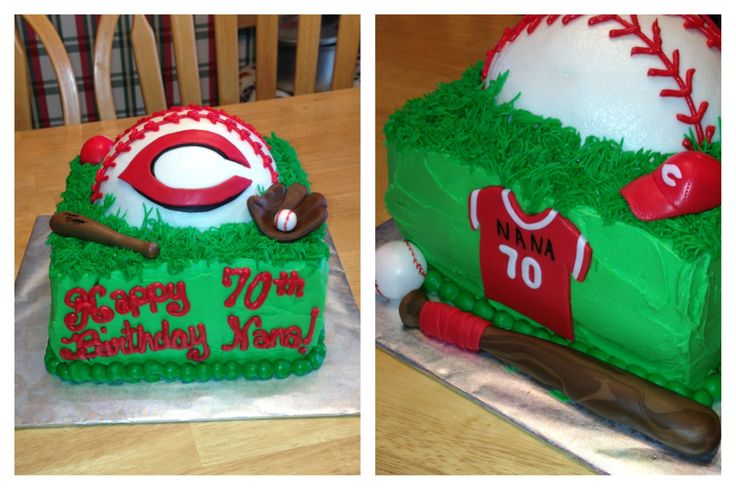 Cake Decorating Store Cincinnati : Cincinnati Reds 70th birthday cake for Nana! By yuMM ...